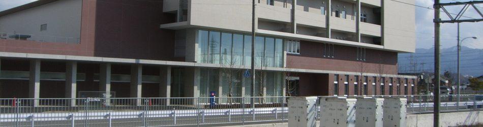 道場南口駅からの風景。垂井耳鼻科は恒生病院の向こう側